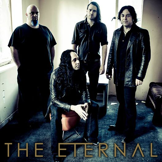 Mark Kelson with his band The Eternal.