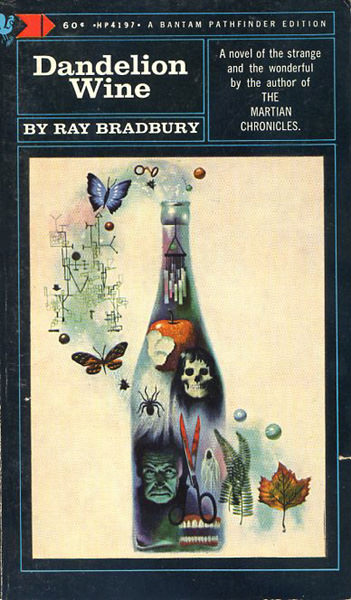 One of the more alluring and psychedelic covers for Ray Bradbury's novel 'Dandelion Wine' - the 11th stated printing, Bantam Pathfinder Edition, 1968.