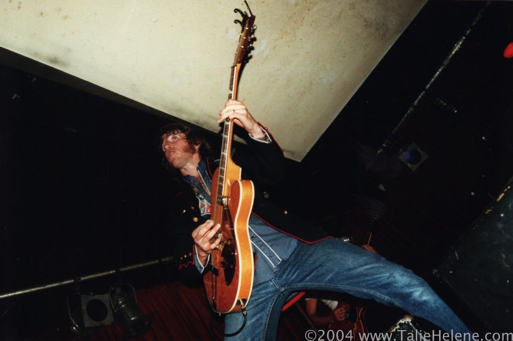 Tim Rogers and The Temperance Union at the industry showcase gig for 'Spit Polish' at The Evelyn Hotel, 2004.
